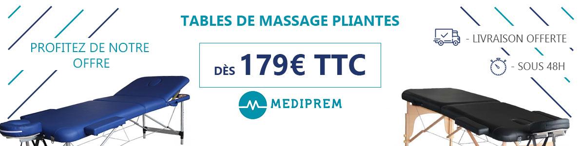 table de massage pliante mediprem